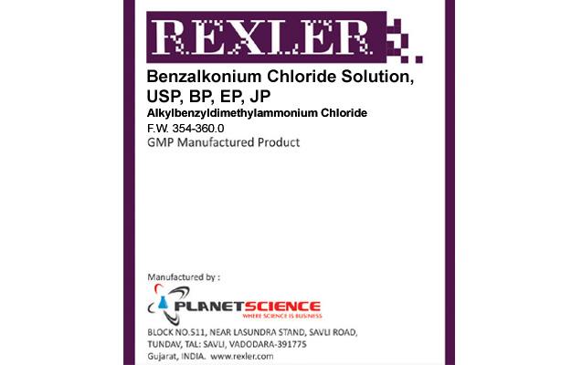 Benzalkonium Chloride Solution, USP, BP, EP, JP