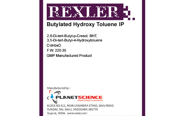 Butylated Hydroxy Toluene IP
