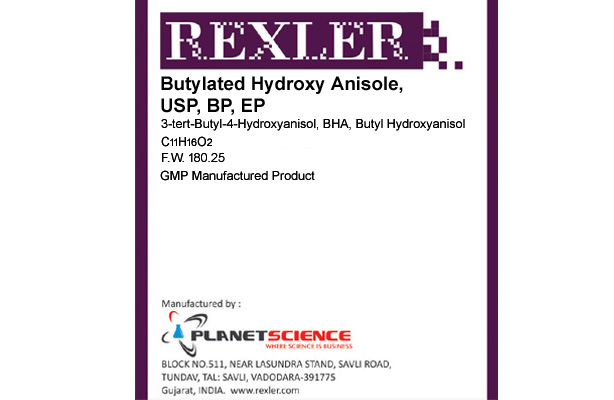 Butylated Hydroxy Anisole, USP, BP, EP