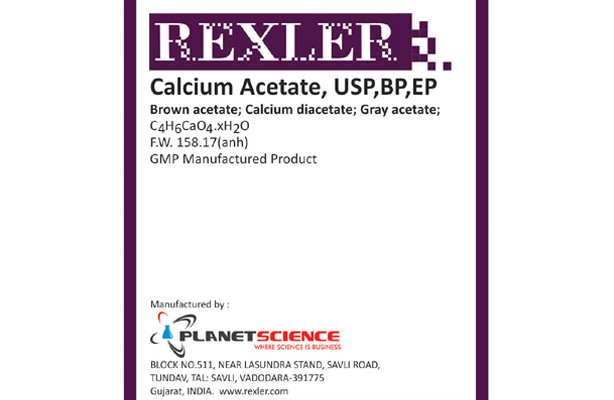 Calcium Acetate USP, BP, EP