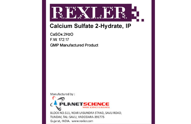 Calcium Sulfate 2-hydrate IP