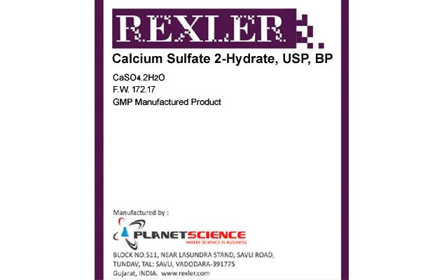 Calcium Sulfate 2-hydrate, USP, BP