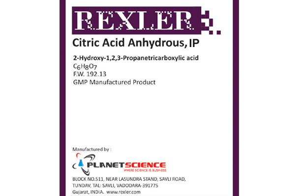Anhydrous Citric Acid IP