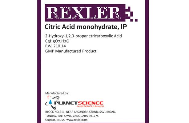 Citric Acid Monohydrate IP