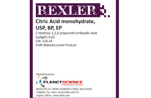 Citric Acid Monohydrate USP, BP, EP