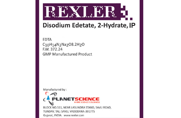 Disodium Edetate 2-Hydrate IP