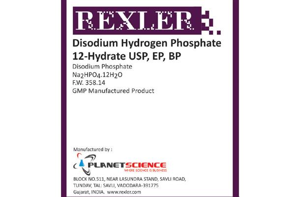 Di-Sodium Hydrogen Phosphate 12-Hydrate, USP, BP, EP