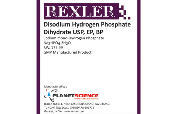 Disodium Hydrogen Phosphate Dihydrate USP, EP, BP