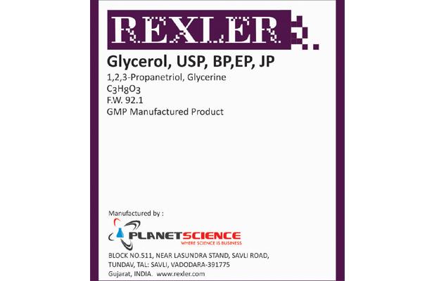 Glycerol, USP, BP,EP, JP