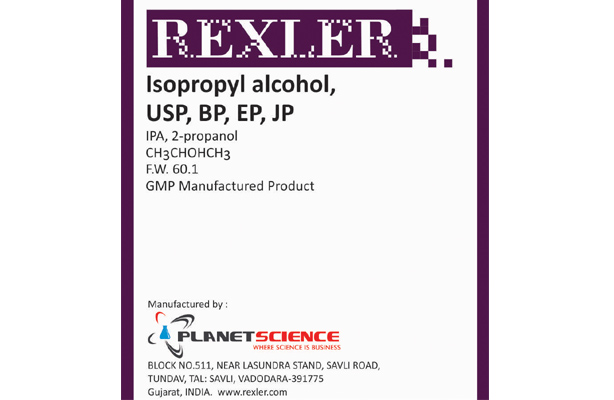 Isopropyl alcohol, USP, BP, EP, JP