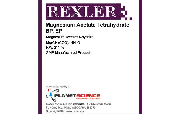 Magnesium Acetate Tetrahydrate BP, EP
