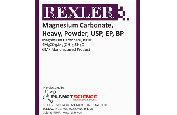 Magnesium Carbonate, Heavy, Powder, USP, EP, BP