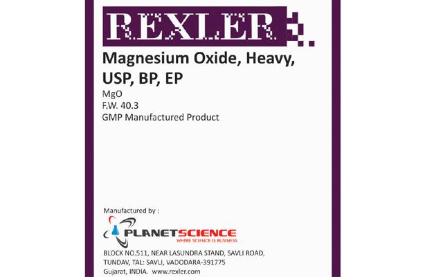 Magnesium Oxide, Heavy, USP, BP, EP