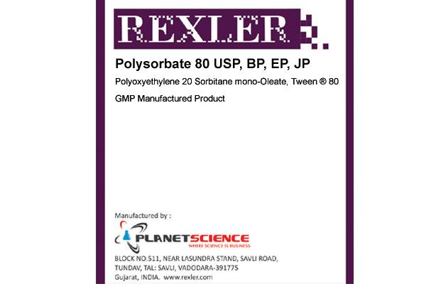 Polysorbate 80 USP, BP, EP, JP