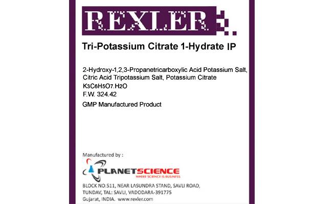 Tri-Potassium Citrate 1-Hydrate IP