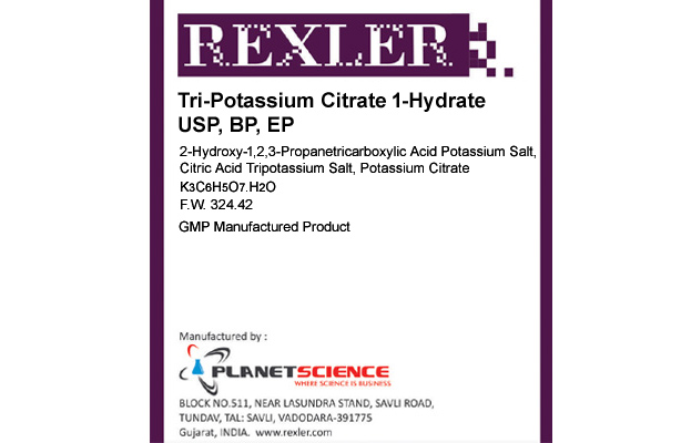 Tri-Potassium Citrate 1-Hydrate USP, BP, EP
