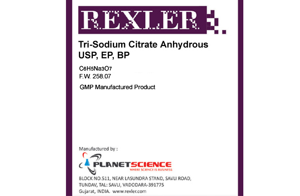 Tri-Sodium Citrate Anhydrous USP, EP, BP