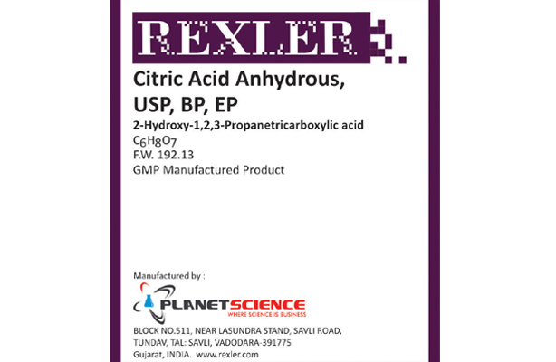 Citric Acid Anhydrous USP, BP, EP