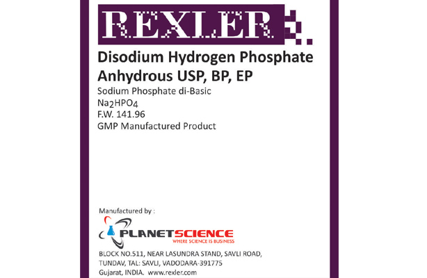 Disodium Hydrogen Phosphate Anhydrous USP, BP, EP