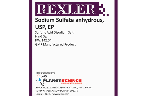 Sodium Sulfate Anhydrous USP, EP