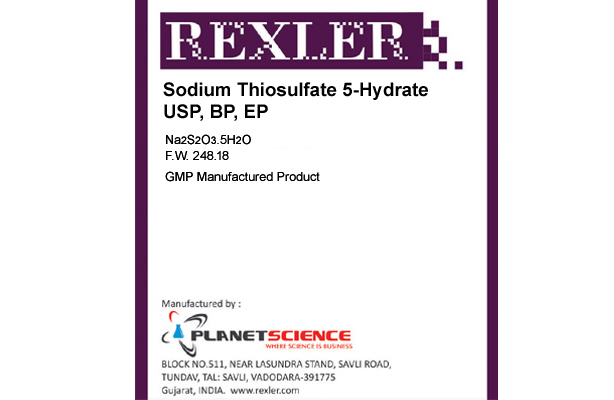 Sodium Thiosulfate 5-Hydrate USP, BP, EP